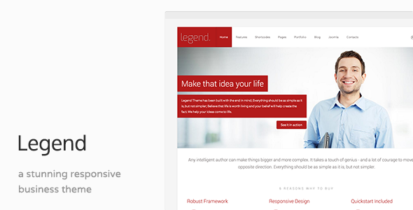 Legend – Clean Business Joomla Template