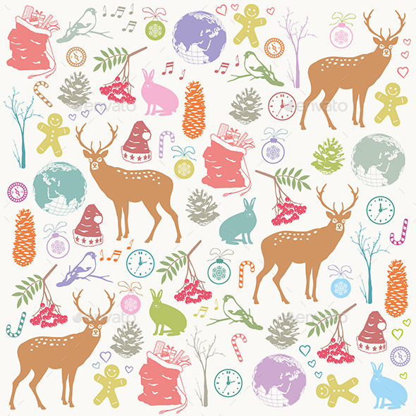 Christmas Deer - Patterns Decorative