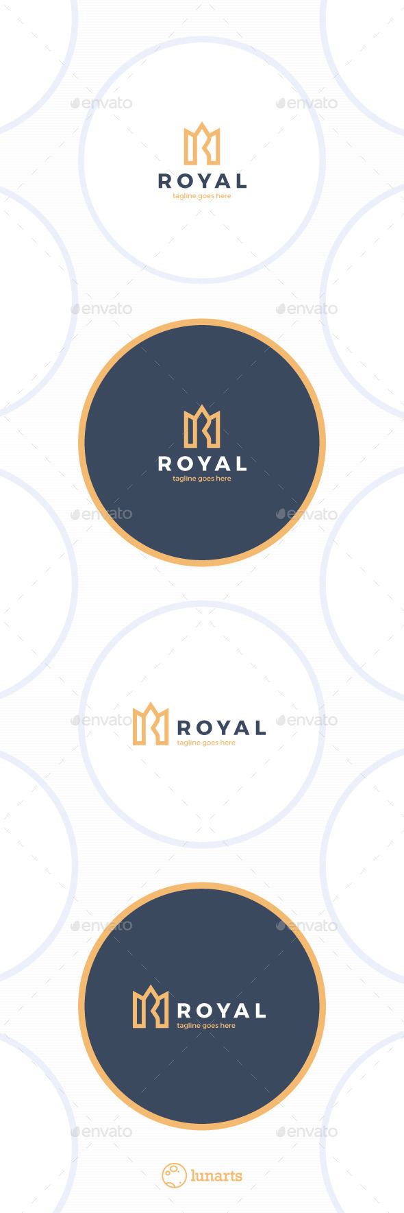 Royal Crown Logo - Luxury - Letter R - Letters Logo Templates