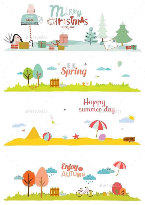 Seasons Banners - Seasons Nature