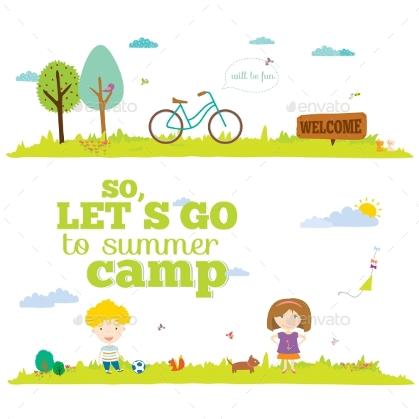 Tourism or Camping Banner - Travel Conceptual