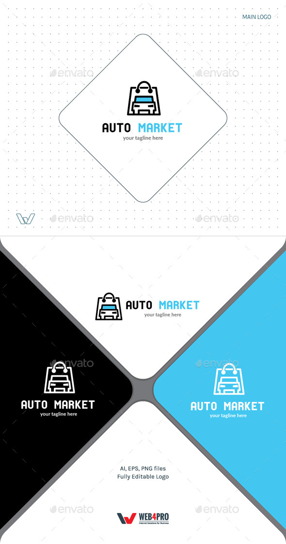 AutoMarket Logo - Objects Logo Templates