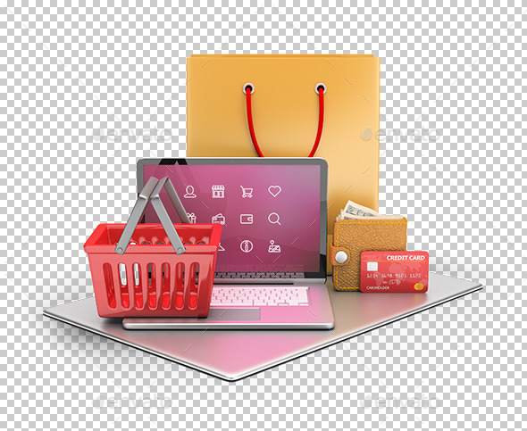 E-commerce Concept - Technology 3D Renders