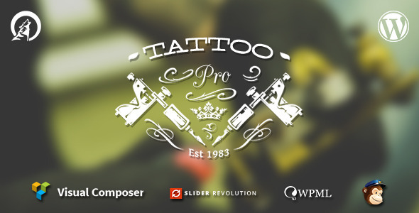 Tattoo Pro – Your Tattoo Shop WordPress Theme