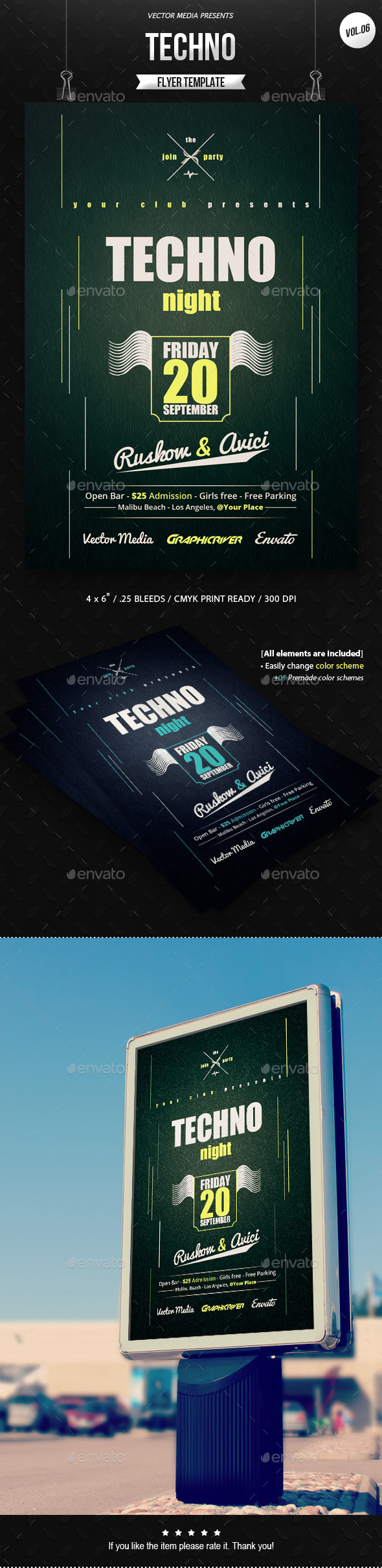 Techno - Flyer [Vol.6] - Clubs & Parties Events