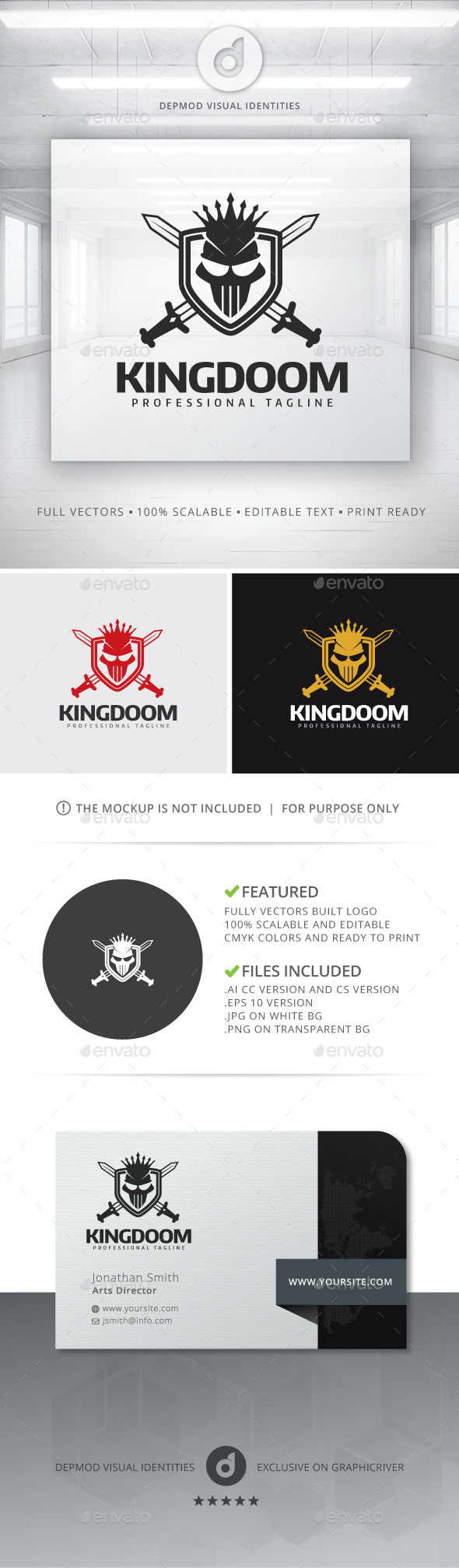 KingDoom Logo - Crests Logo Templates