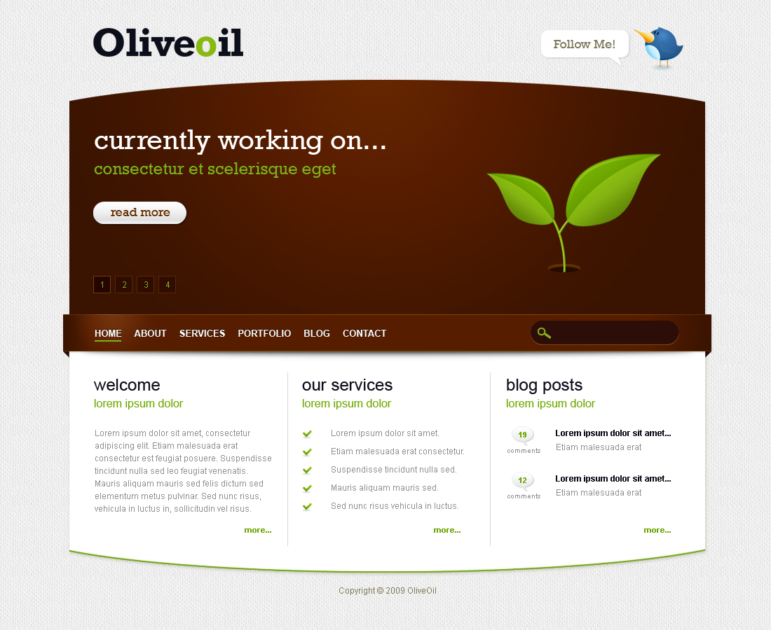 Free Download Oliveoil - Simple Portfolio Template Nulled Latest Version