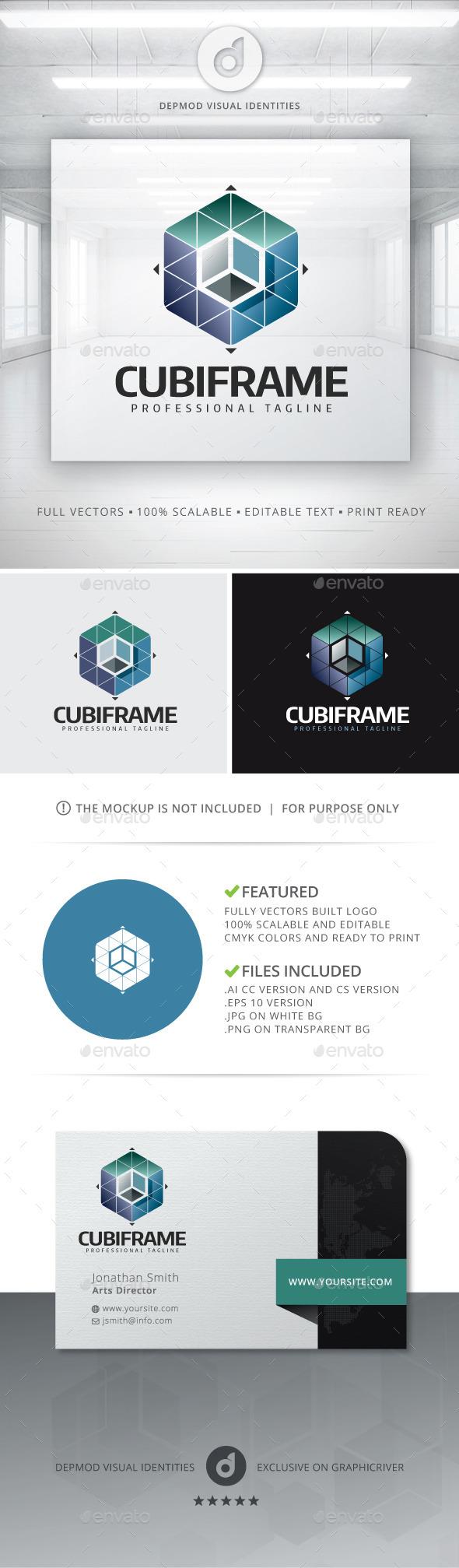 CubiFrame Logo - Abstract Logo Templates