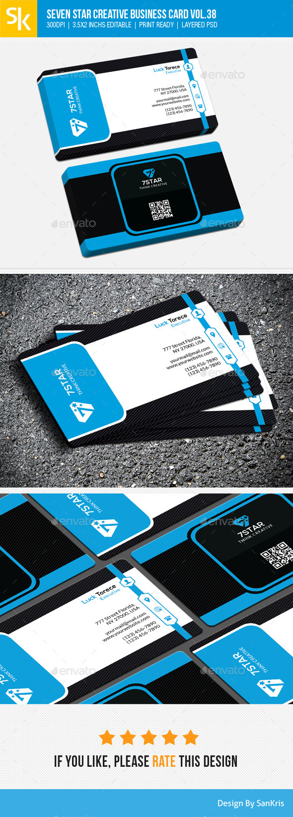 Seven Star Creative Business Card Vol.38 - Creative Business Cards