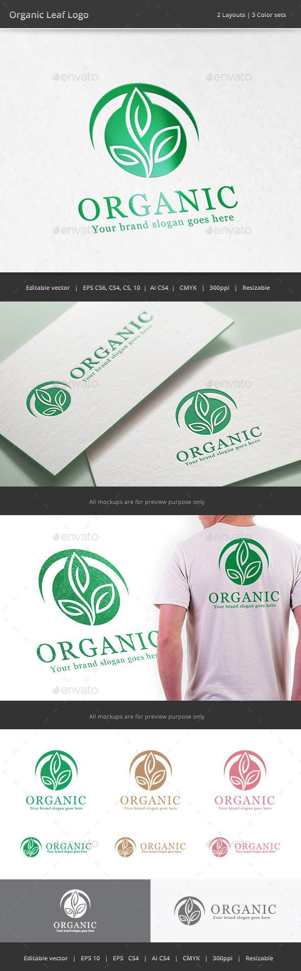 Organic Leaf Logo - Nature Logo Templates