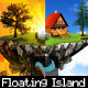 Floating Island Day, Sunset, and Night - GraphicRiver Item for Sale