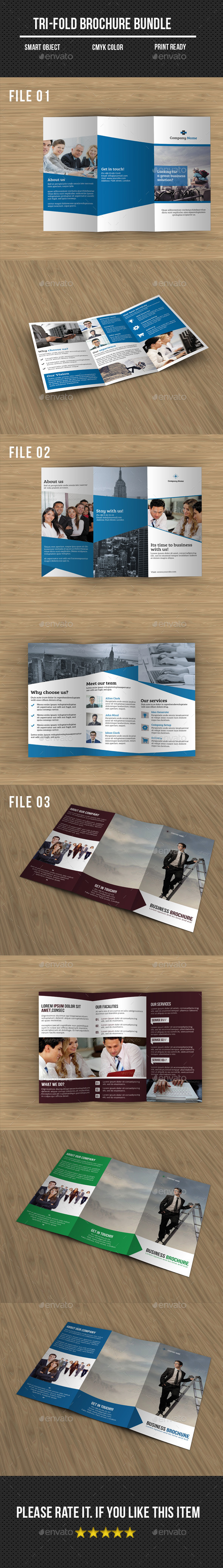 Corporate Tri- Fold Brochure Bundle - Corporate Brochures