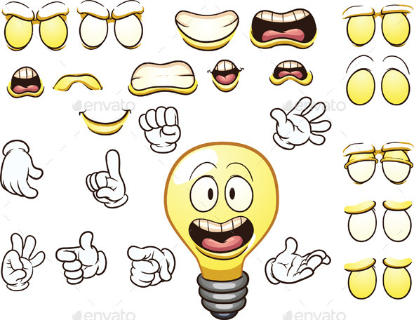 Cartoon Lightbulb - Miscellaneous Characters