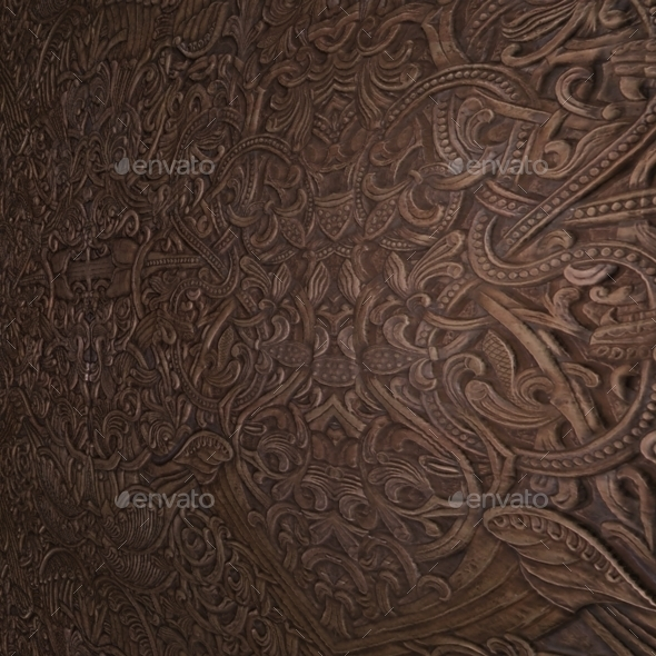 Norse Wooden Carving Seamless Texture By Lucky Fingers