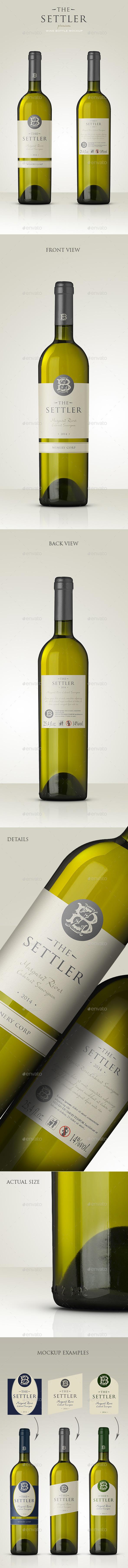 Premium White Wine Mockup - Food and Drink Packaging