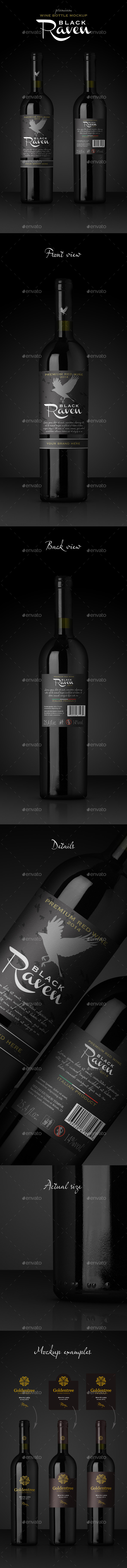 Premium Red Wine Mockup - Food and Drink Packaging