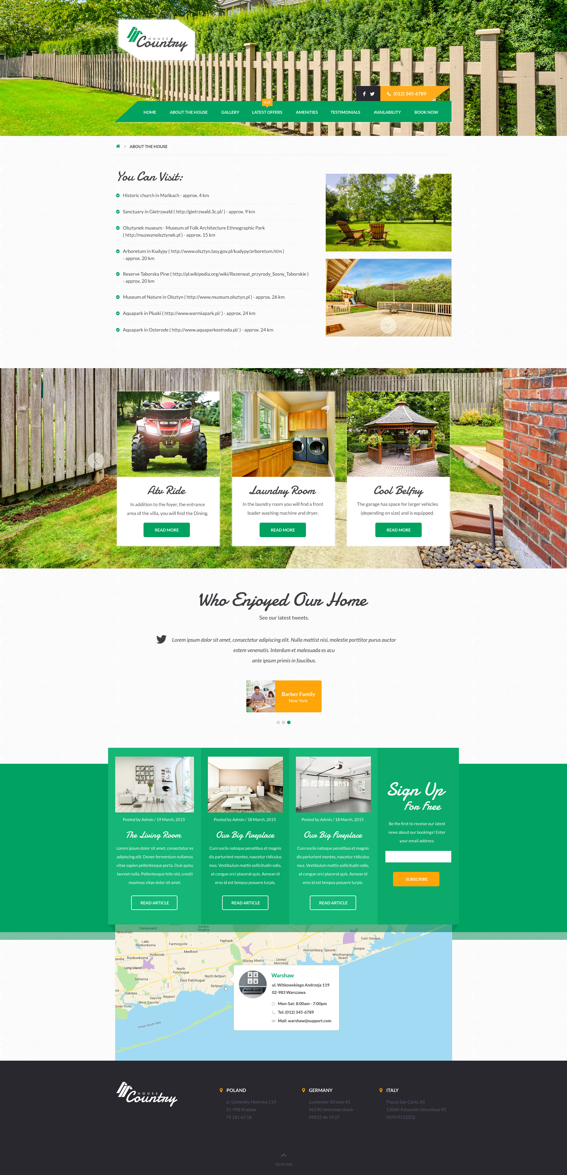 Houses Vacation Rentals Html Template By Themeplayers Themeforest