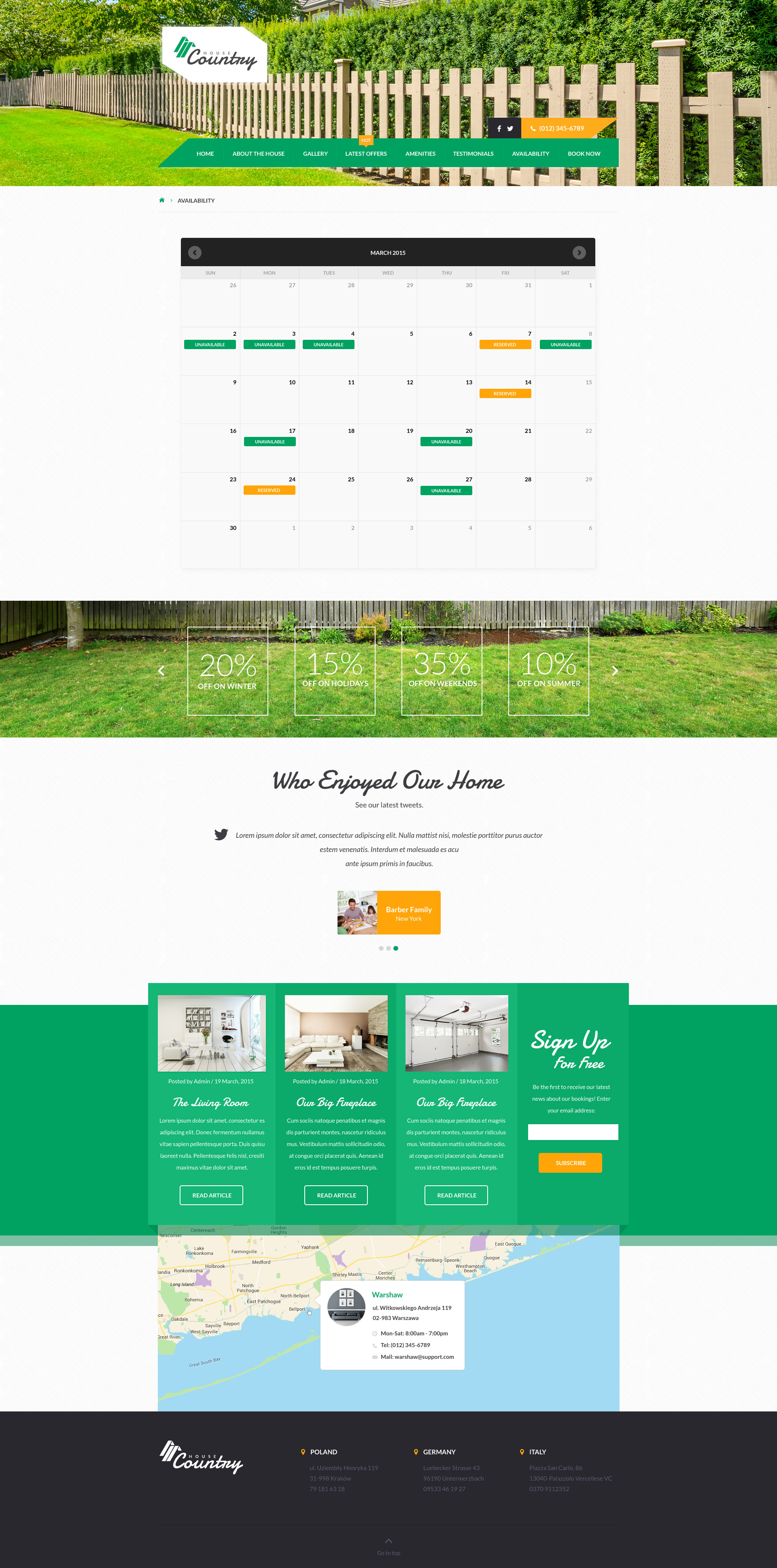 Houses   Vacation Rentals HTML Template  House For Rent Template
