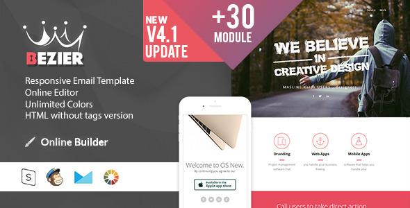 BEZIER  – Modern Email Template + Online Access