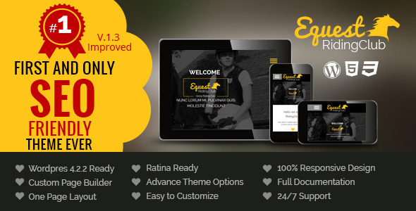 The Equestrian Pro - Multipurpose Responsive WordPress Theme