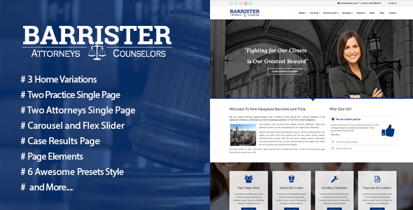 Barrister – Responsive Law Business HTML5 Template