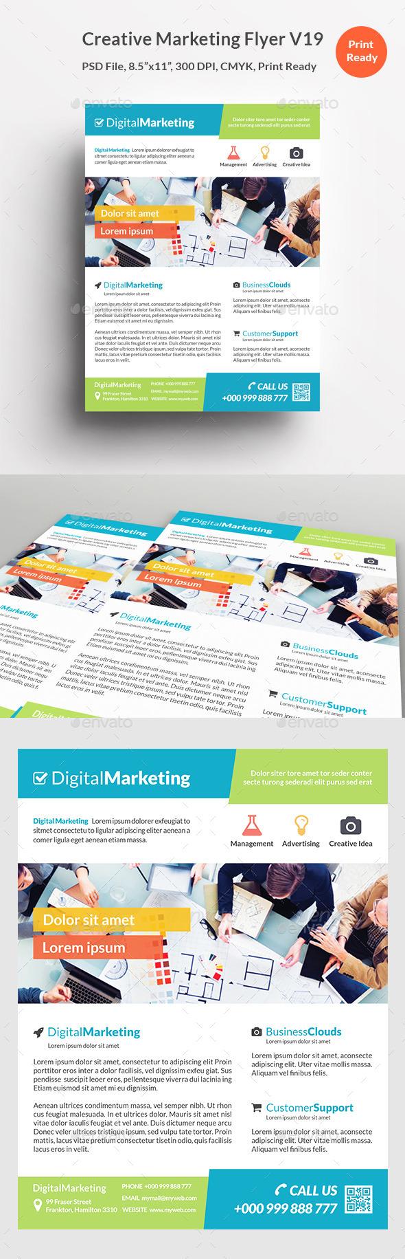 Creative Marketing Flyer V19 - Corporate Flyers