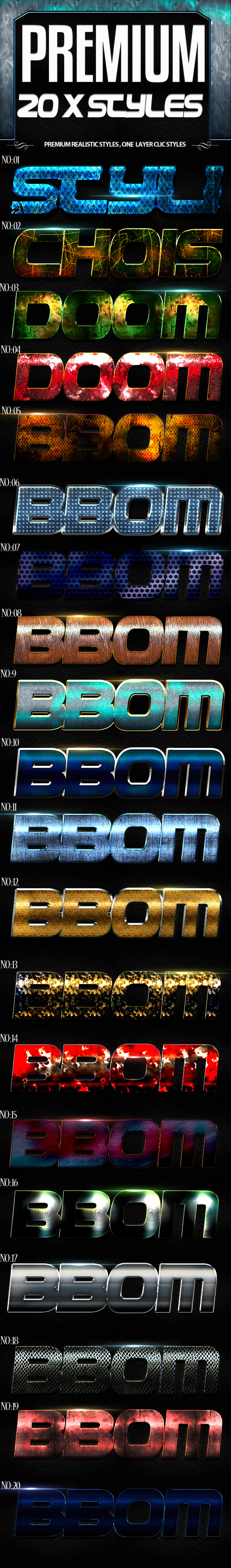 Premium X Styles - Text Effects Styles