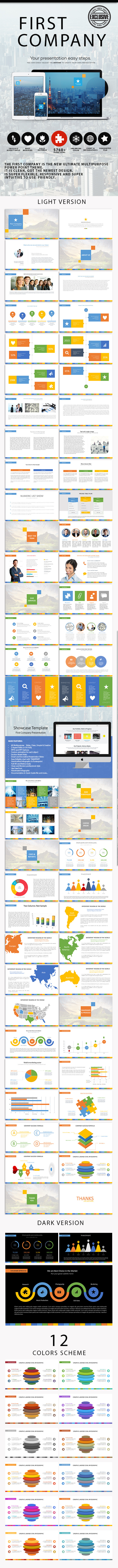 First Company - Multipurpose Presentation Template - Business PowerPoint Templates