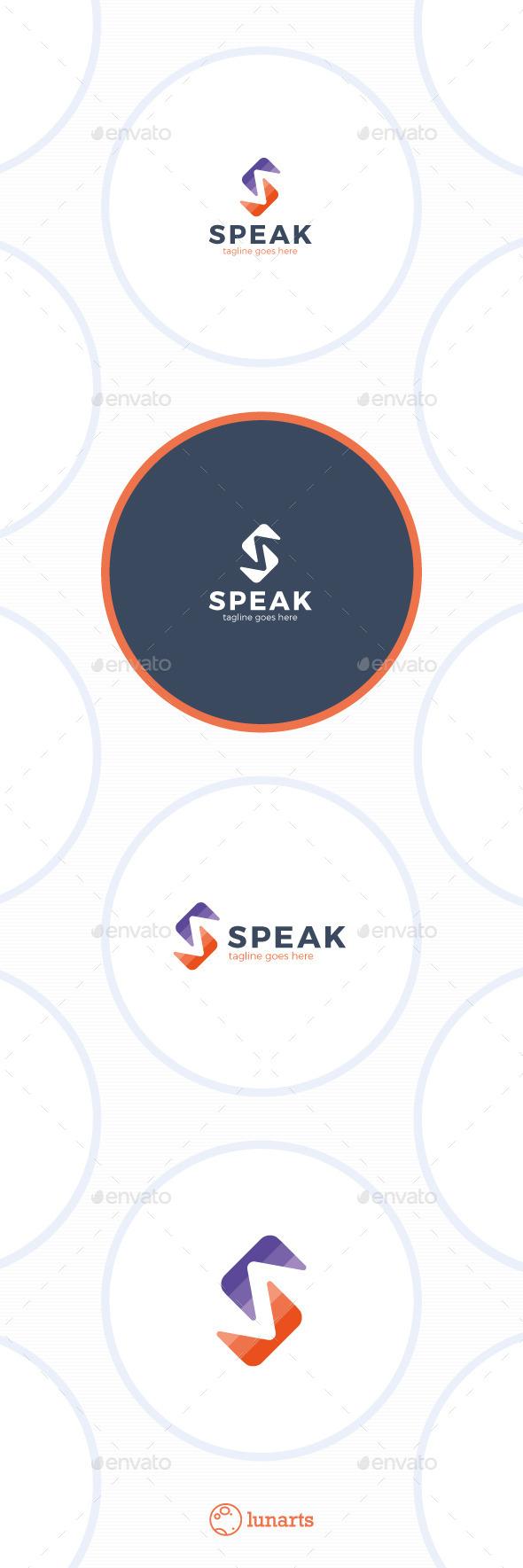 Speak Logo - Letter S - Letters Logo Templates