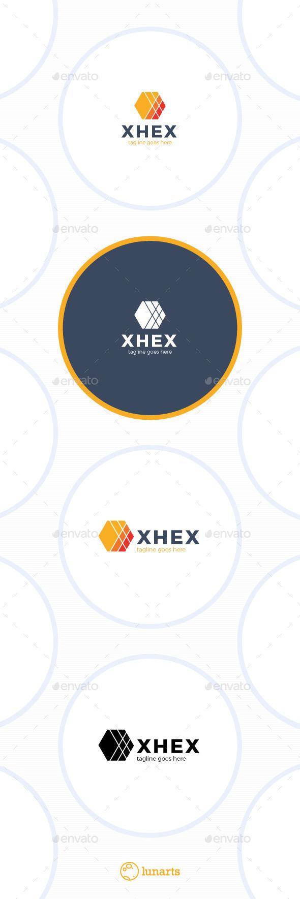 Hex Logo - Letter X - Letters Logo Templates