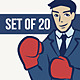20 Businessmen - GraphicRiver Item for Sale
