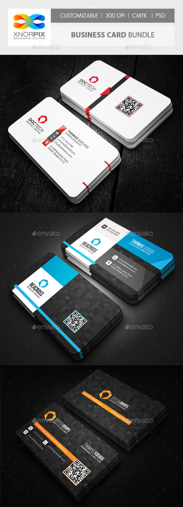 Business Card Bundle 3 in 1-Vol 52 - Corporate Business Cards
