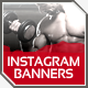 Instagram Health & Fitness Banner Templates - GraphicRiver Item for Sale