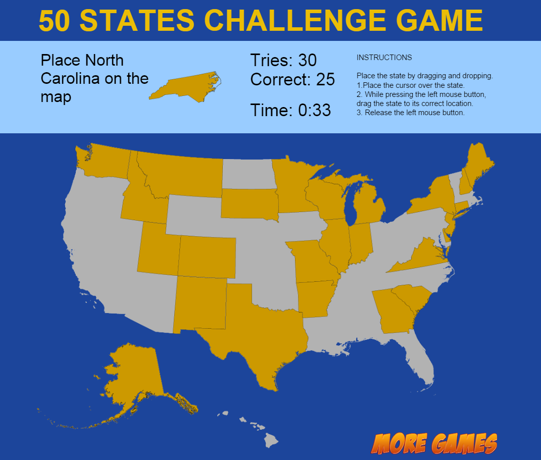United States Map Photos.United States Map Game 50 States Challenge By Dexterfly Codecanyon