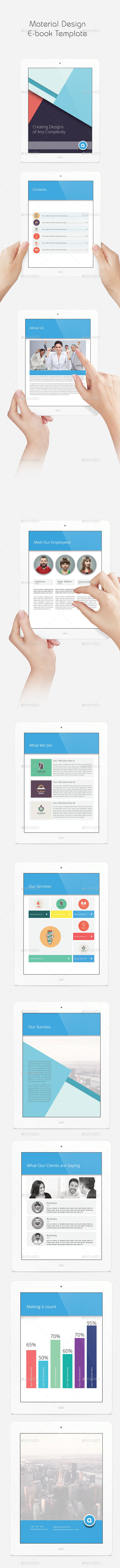 Material Design eBook Template - ePublishing
