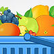 Shopping Basket with Fresh Fruit - GraphicRiver Item for Sale