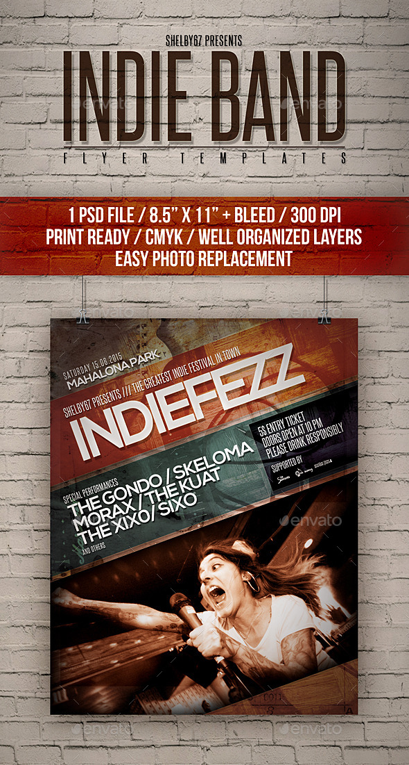 indie band flyer templates by shelby67 graphicriver