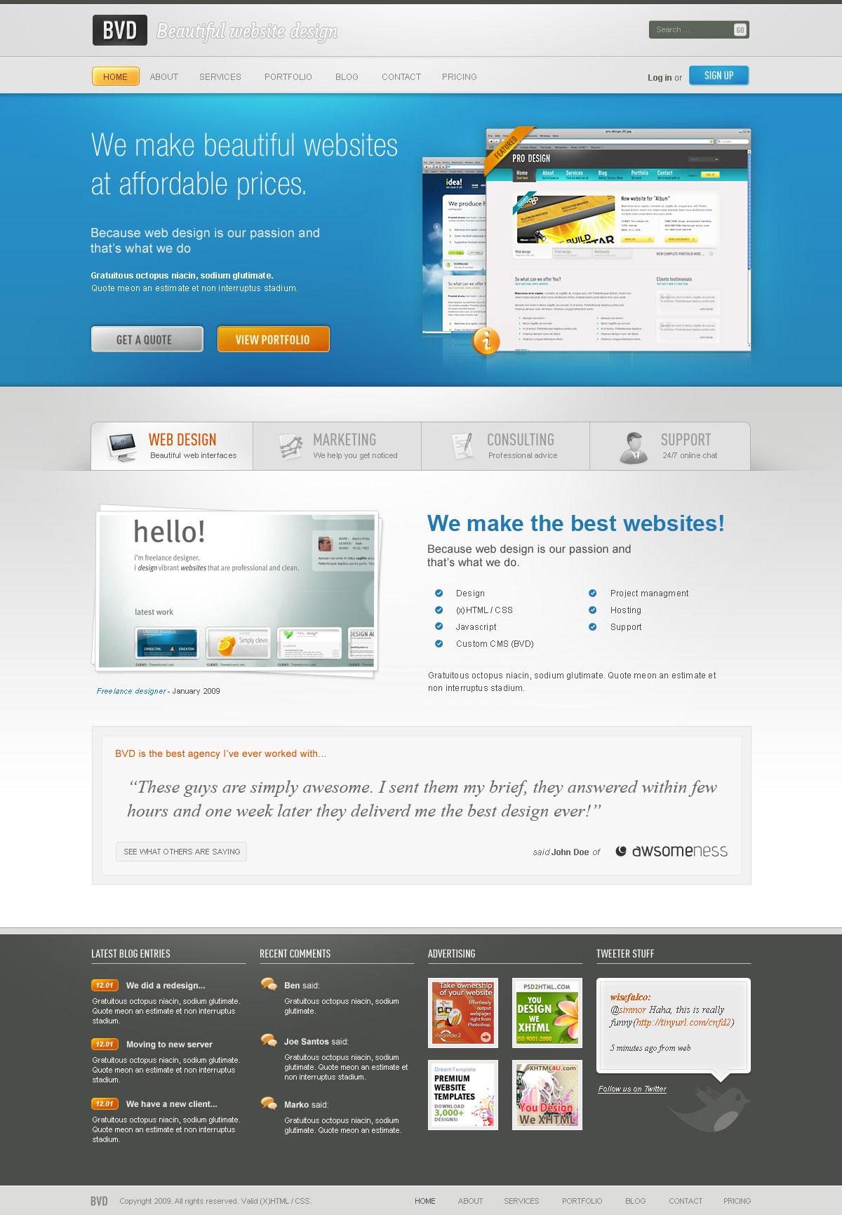Bvd beautiful website design html by segen themeforest 136674screenshotsbvd00g flashek Gallery
