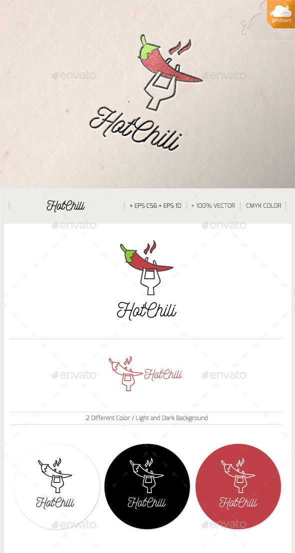 Hot Chilli - Food Logo Templates