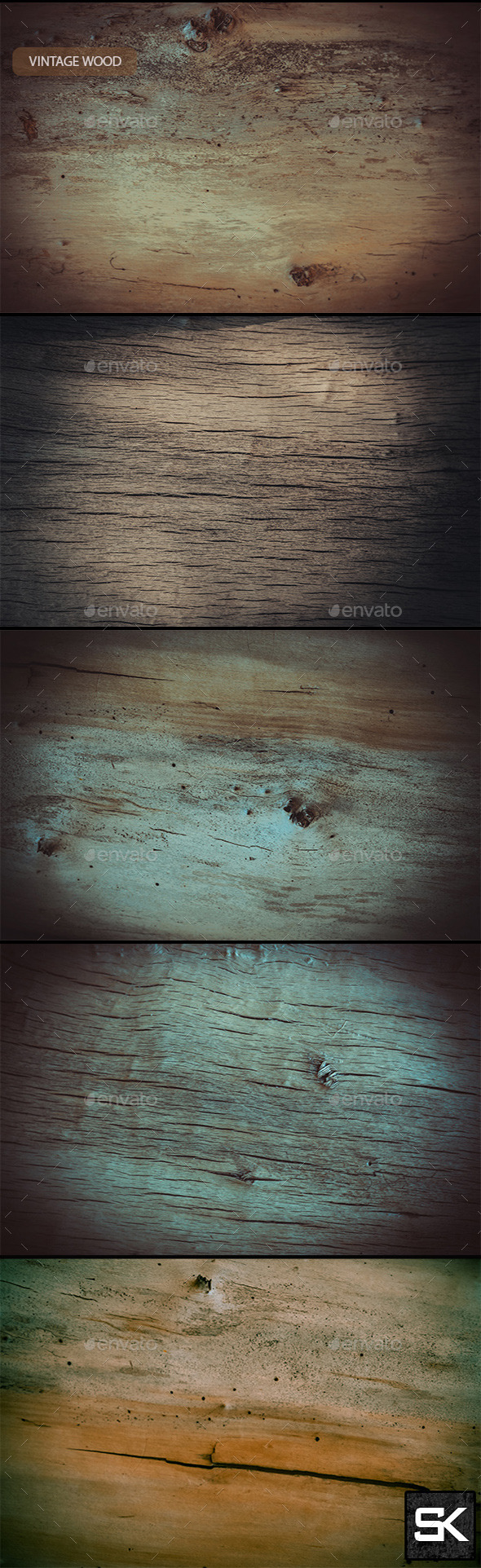 Vintage Wood 5 - Nature Backgrounds
