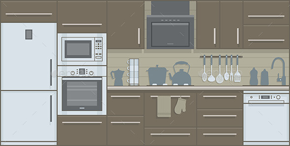 Kitchen - Man-made Objects Objects