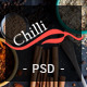 Chilli - Event Bistro & Restaurant PSD Template Nulled