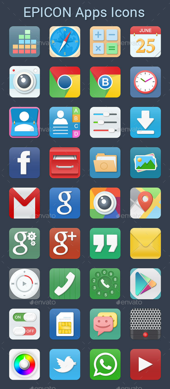 Epicon Apps Icons - Software Icons