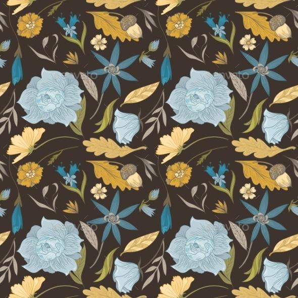Vintage Floral Pattern - Flowers & Plants Nature