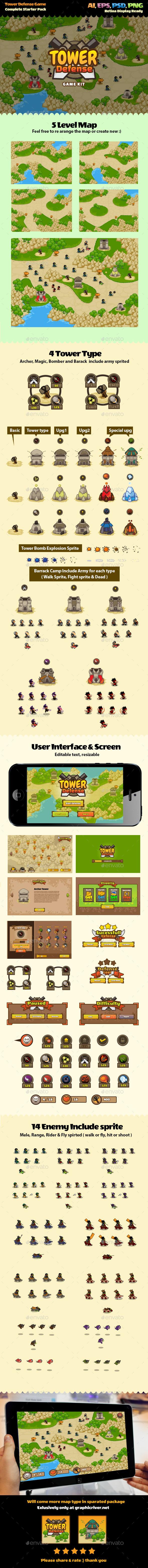 Tower Defense Game Kit - Game Kits Game Assets