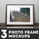 3 Photo Frame Mockups - GraphicRiver Item for Sale