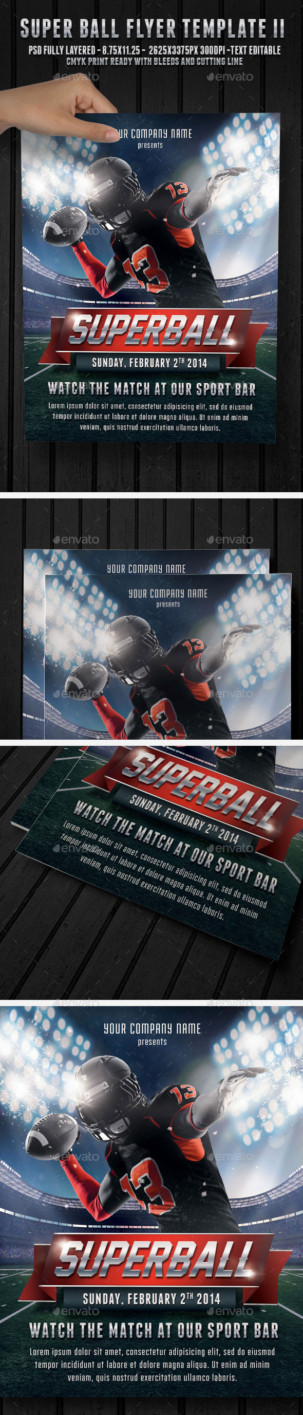 Super Ball Football 2 - Flyer Template - Sports Events