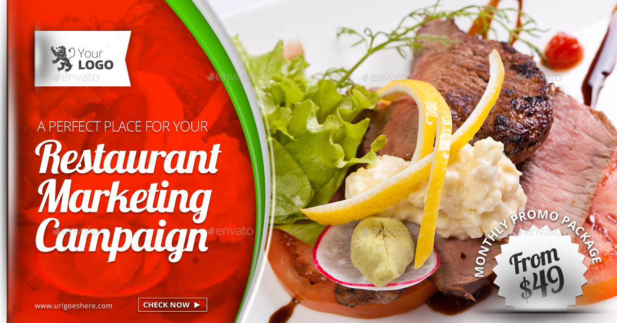 food restaurants web facebook banners by belegija graphicriver