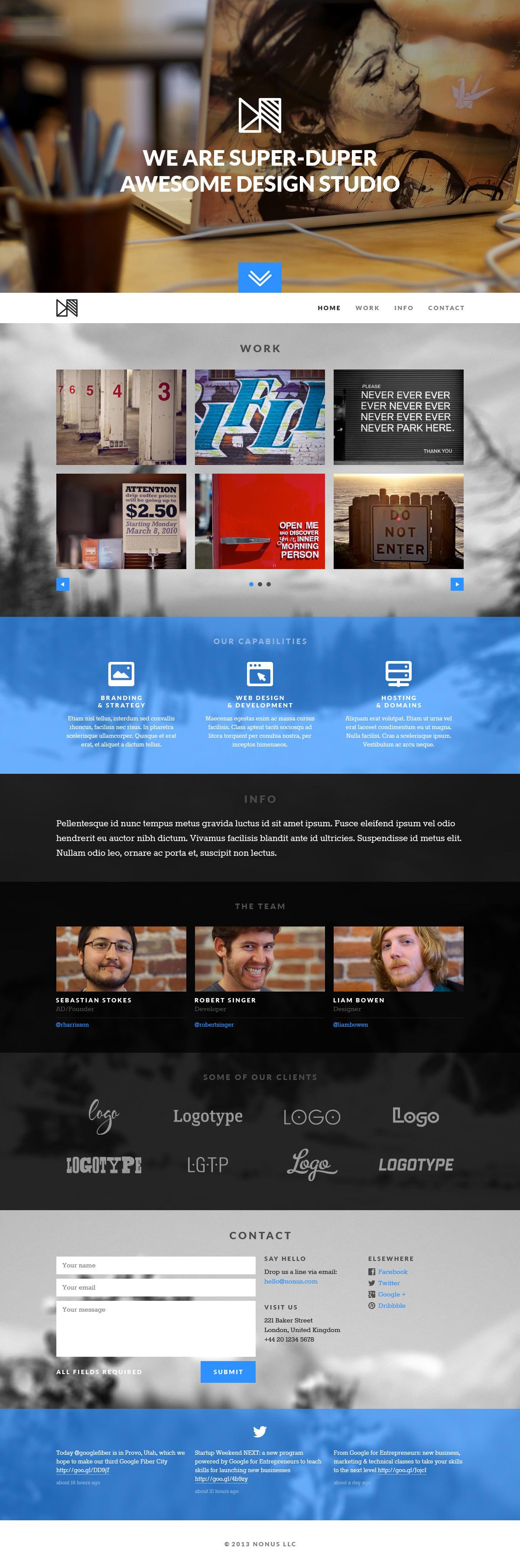 Nonus Parallax Wordpress Portfolio By Themewoodmen Themeforest