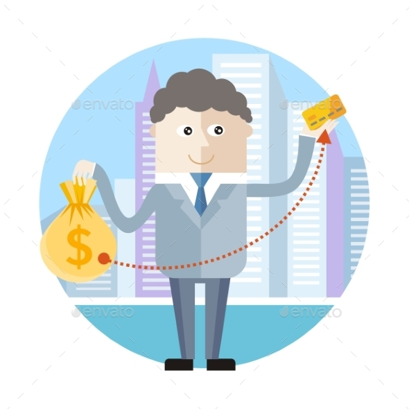 Businessman With Credit Card - Concepts Business